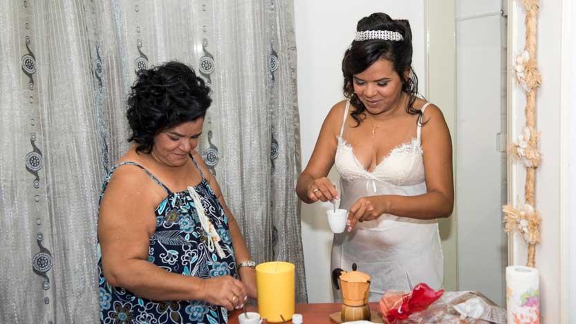 la sposa e la mamma ed il caffè