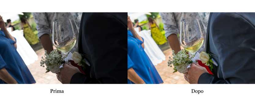 Fotografo matrimonio Ravenna esempio di una post produzione