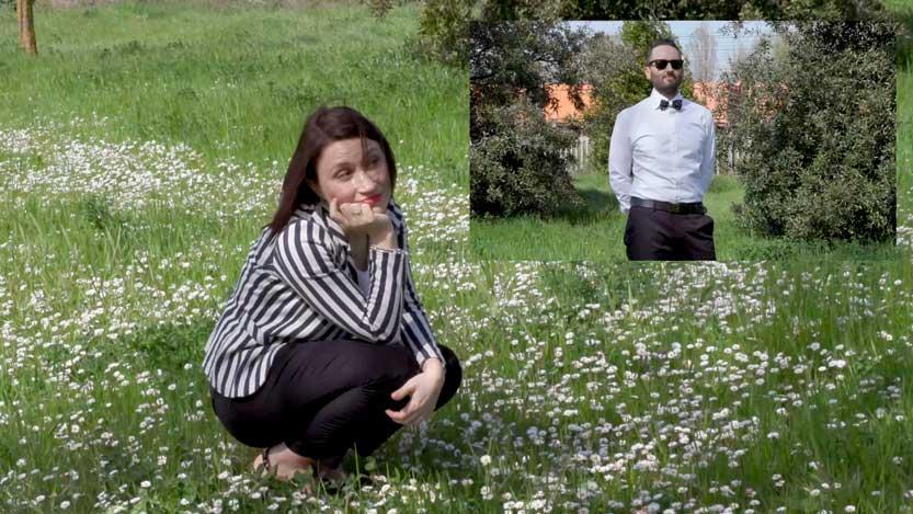 Fotogramma video partecipazioni matrimonio Sara e Thomas