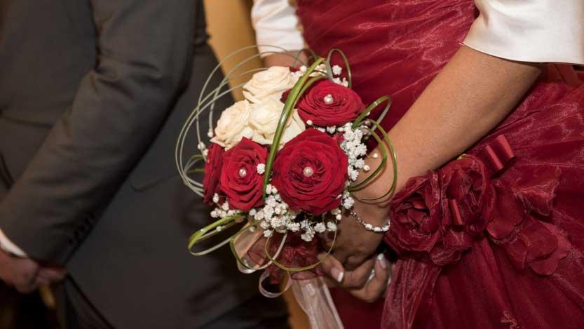 Bouquet sposa con perle di decoro
