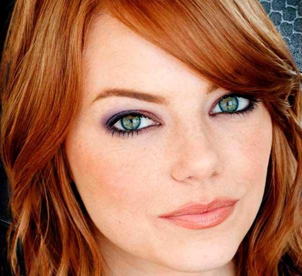 Emma Stone attrice con occhi verdi