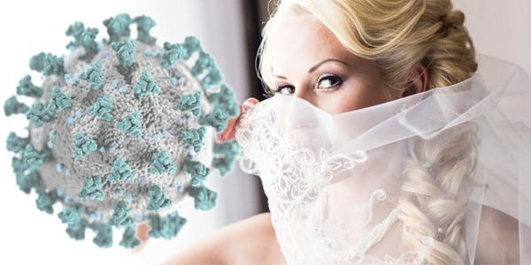 covid-19 riprogrammare i matrimoni sposa con velo sulla bocca