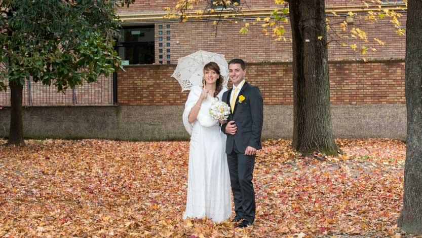 Stefania e Pietro sposati in autunno