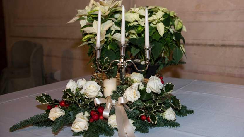 Centro tavola tipicamente natalizio