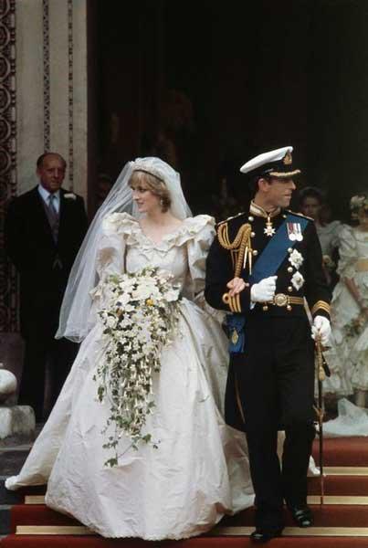 Diana sposa con abito da favola
