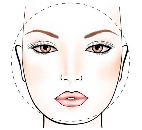 Forme del viso tonde