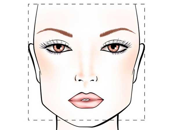 Forme del viso_ quadrato