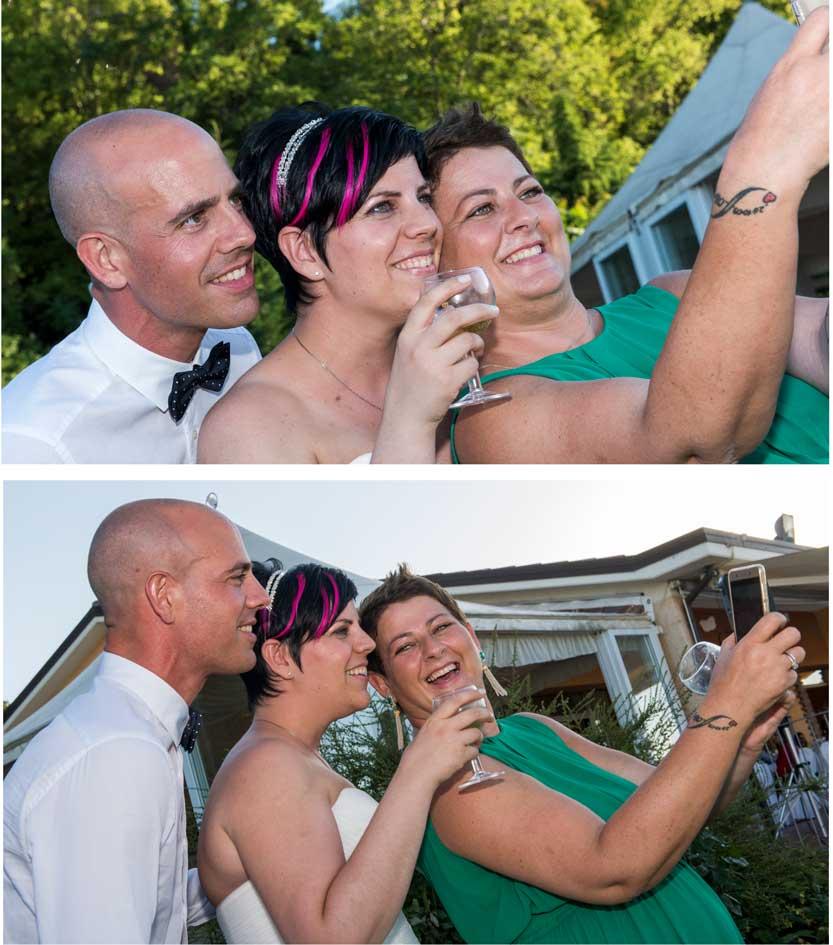 Immagine matrimonio il selfie prima e dopo