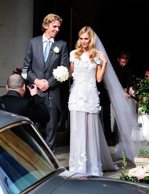 Poppy Delevingne il giorno del matrimonio con James Cook
