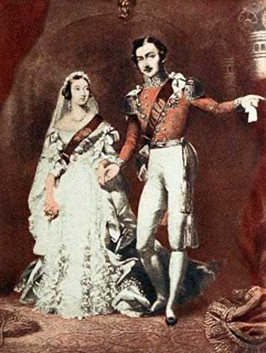 Regina Vittoria in abito da sposa nel 1840