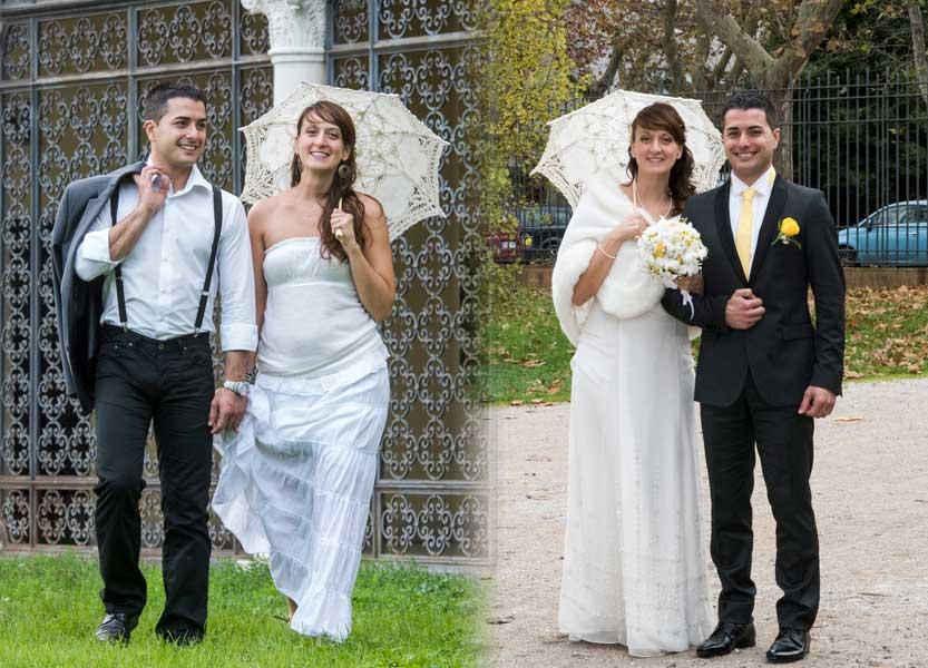 Sposa con doppio abito