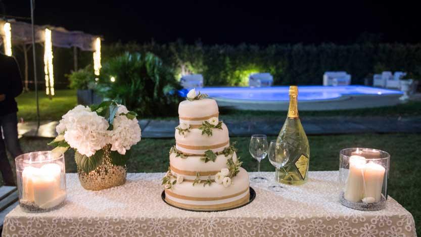 Torta nuziale di Isabella e Gianluca sposi